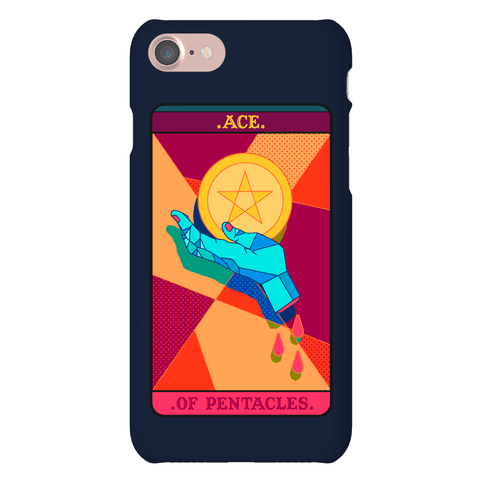 Pentacles Tarot Card Phone Case