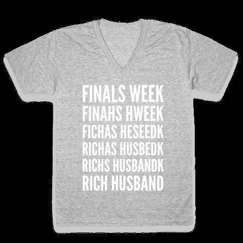 Finals Week V-Neck Tee Shirt