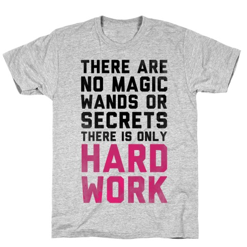 There are No Magic Wands or Secrets. There is only HARD WORK T-Shirt