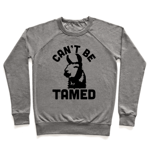 Can't Be Tamed Run Away Llama Pullover