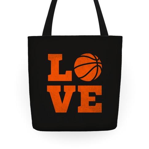 Love Basketball Tote