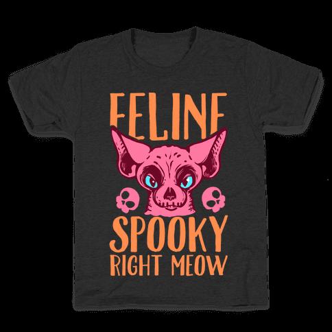 Feline Spooky Right Meow Kids T-Shirt