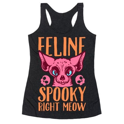 fa1aa03c77fb6a Feline Spooky Right Meow Racerback Tank