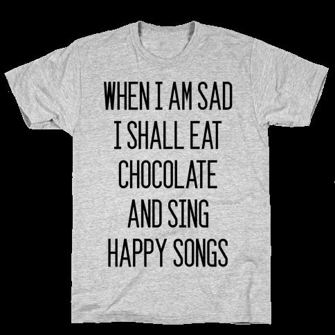 Get Sad Eat Chocolate Mens T-Shirt