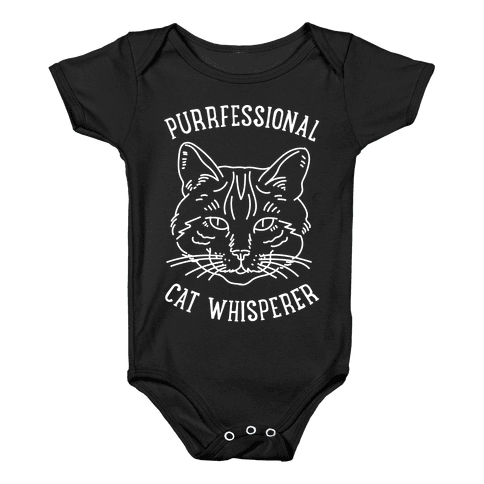 Purrfessional Cat Whisperer Baby Onesy