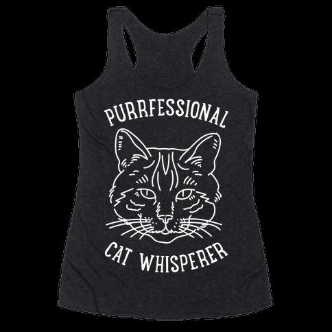 Purrfessional Cat Whisperer Racerback Tank Top