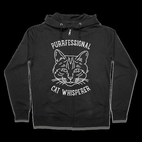 Purrfessional Cat Whisperer Zip Hoodie