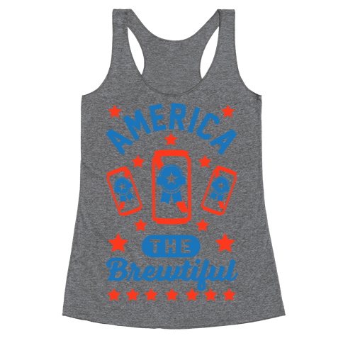 America The Brewtiful Racerback Tank Top