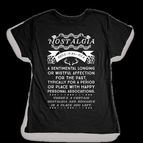 Nostalgia Definition Womens T-Shirt