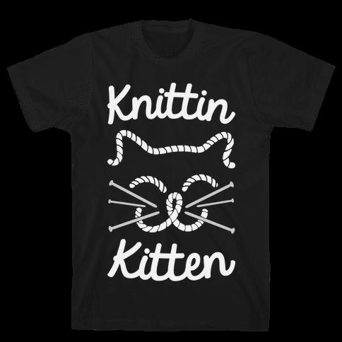 Knittin Kitten Mens T-Shirt