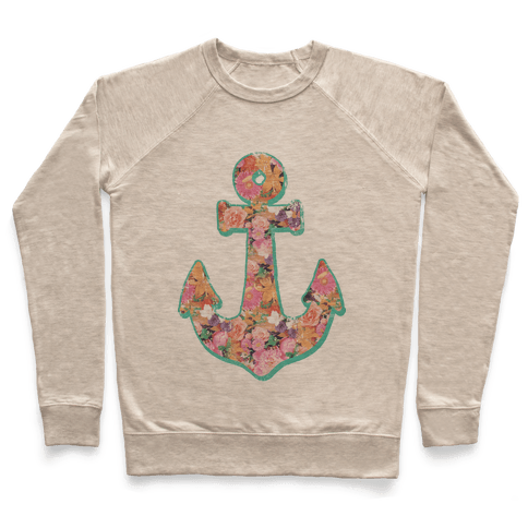 Floral Anchor (Coral) Pullover