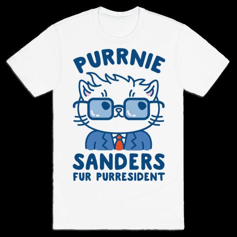 Purrnie Sanders Fur Purresident Mens T-Shirt
