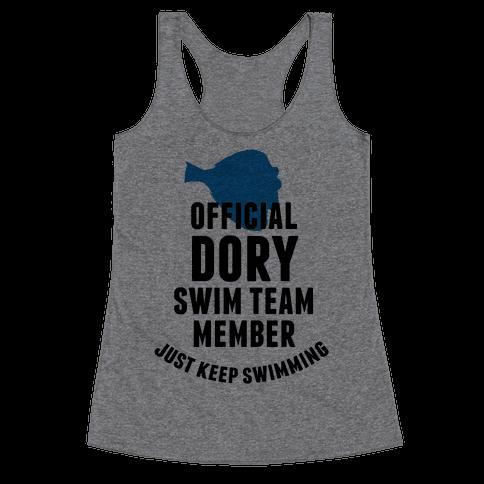 Official Dory Swim Team Member Racerback Tank Top