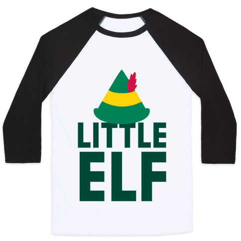 Little Elf Baseball Tee