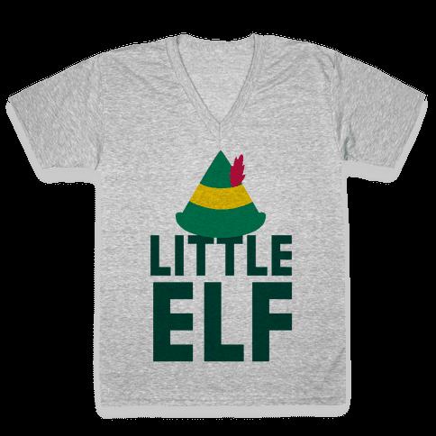 Little Elf V-Neck Tee Shirt