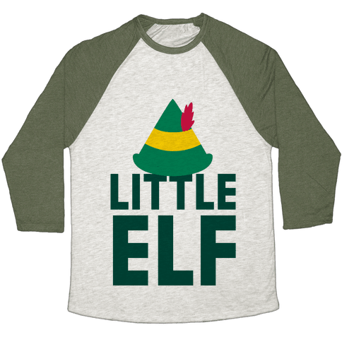 Little Elf Baseball Tee