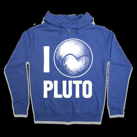 I Heart Pluto Zip Hoodie