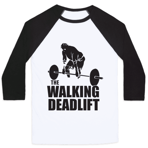 Walking Deadlift Baseball Tee