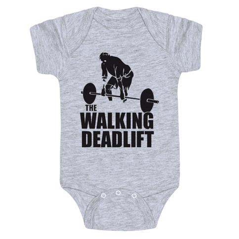Walking Deadlift Baby Onesy