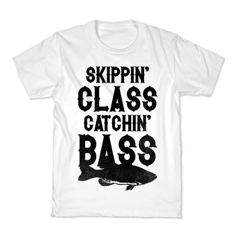 Skippin' Class Catchin' Bass Kids T-Shirt