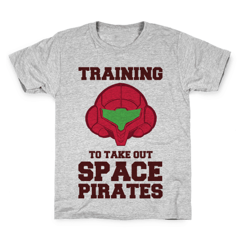 Training To Take Out Space Pirates Kids T-Shirt