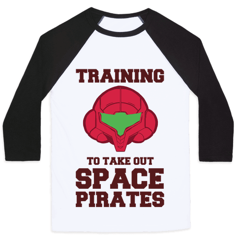 Training To Take Out Space Pirates Baseball Tee