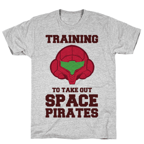 Training To Take Out Space Pirates Mens T-Shirt