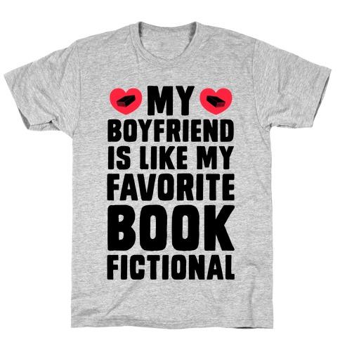 My Boyfriend is Like My Favorite Book, Fictional T-Shirt