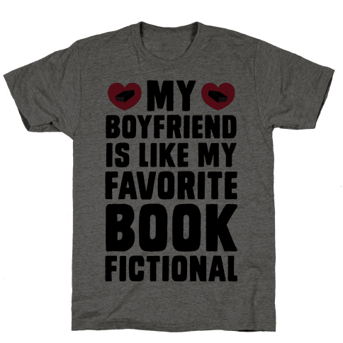 My Boyfriend is Like My Favorite Book, Fictional Mens T-Shirt