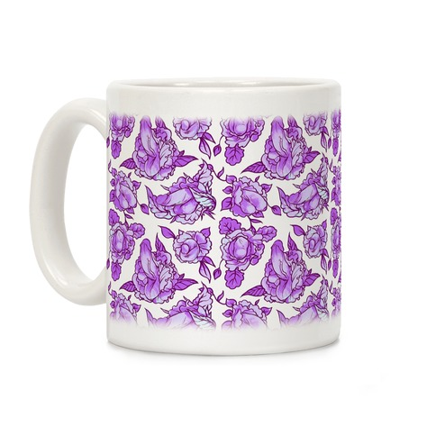 Floral Penis Purple Coffee Mug