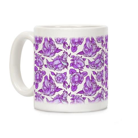 Floral Penis Purple Coffee Mug