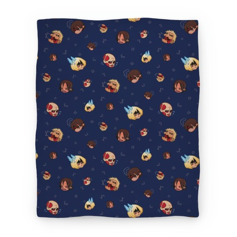 Attack on Titan Heads Blanket Blanket