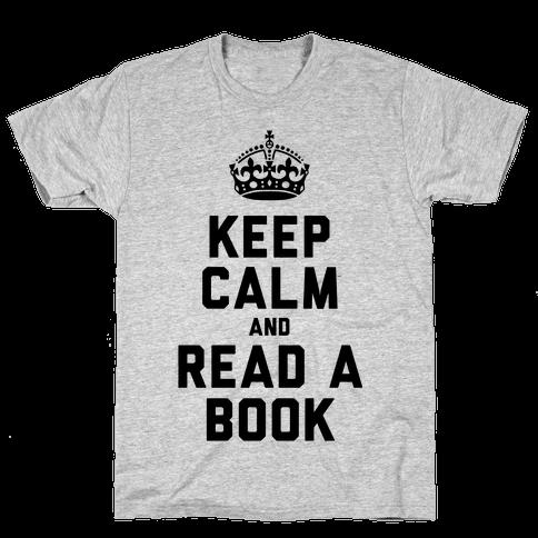 Keep Calm and Read a Book Mens T-Shirt
