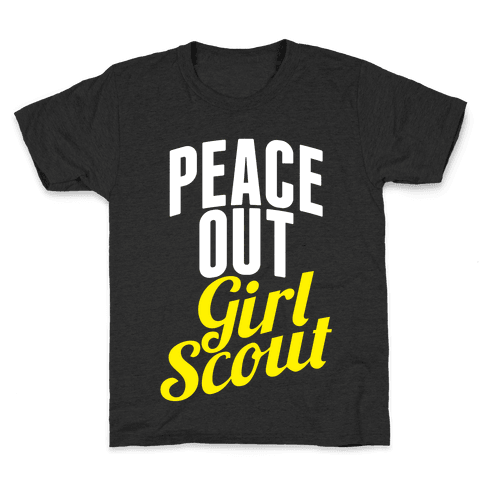 Peace Out, Girl Scout Kids T-Shirt