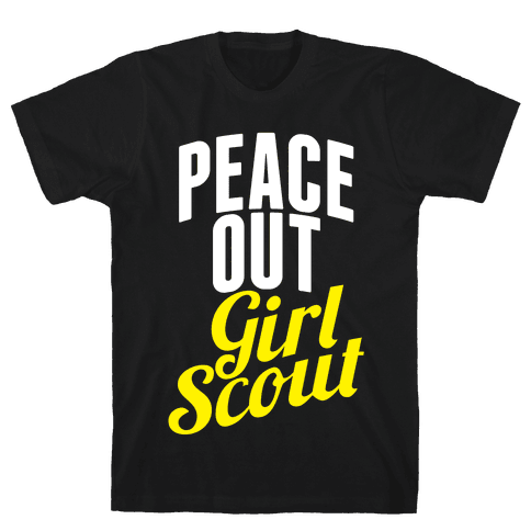 Peace Out, Girl Scout Mens T-Shirt