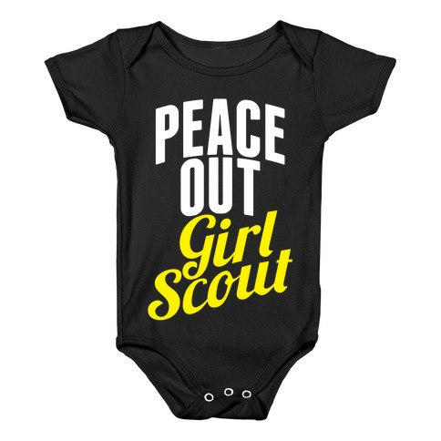 Peace Out, Girl Scout Baby Onesy
