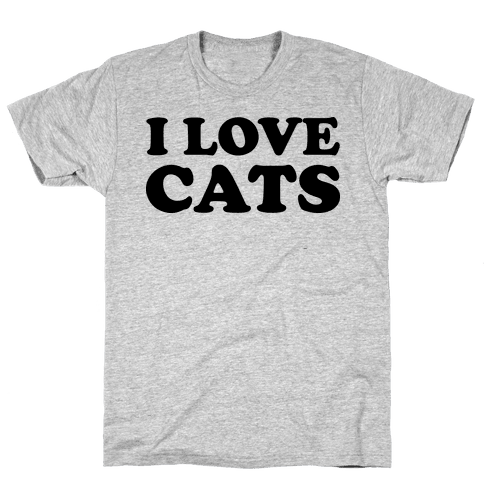 I Love Cats Mens T-Shirt