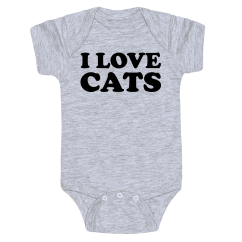 I Love Cats Baby Onesy