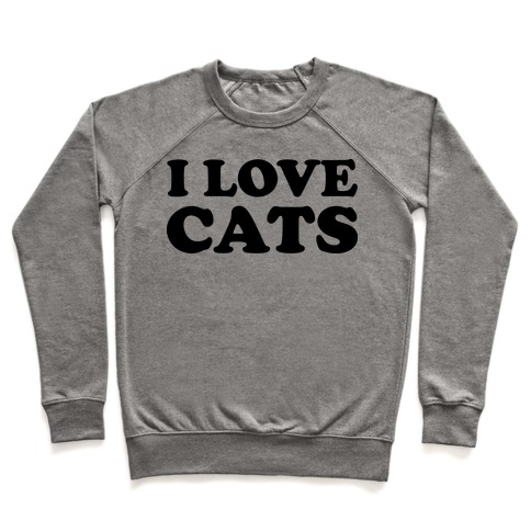 I Love Cats Pullover