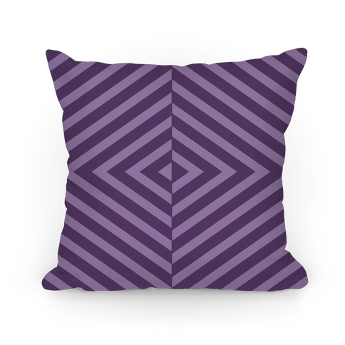 Purple Diagonal Stripe Pattern Pillow