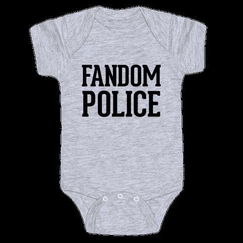 Fandom Police Baby Onesy