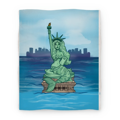 Statue of Liberty Mermaid Blanket