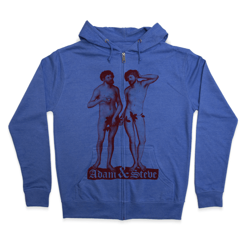Adam and Steve Zip Hoodie