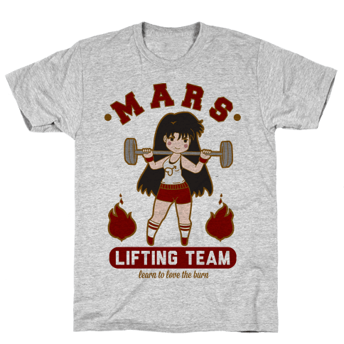 Mars Lifting Team Parody Mens T-Shirt