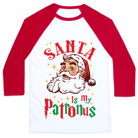 Santa Is My Patronus Baseball Tee