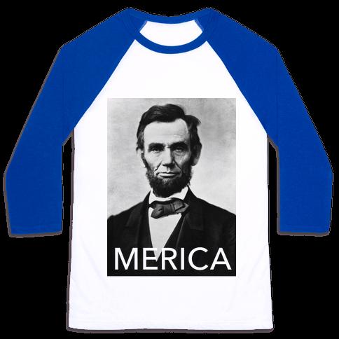 Lincoln's Merica Baseball Tee