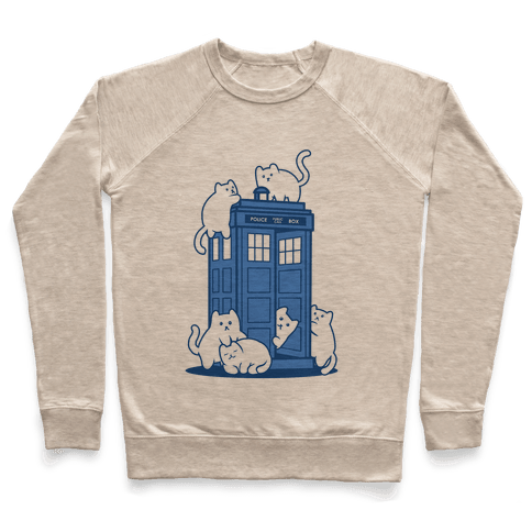 Catipose and the Tardis Pullover