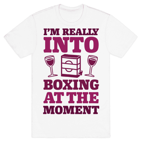 I'm Really Into Boxing At The Moment (Wine) Mens T-Shirt