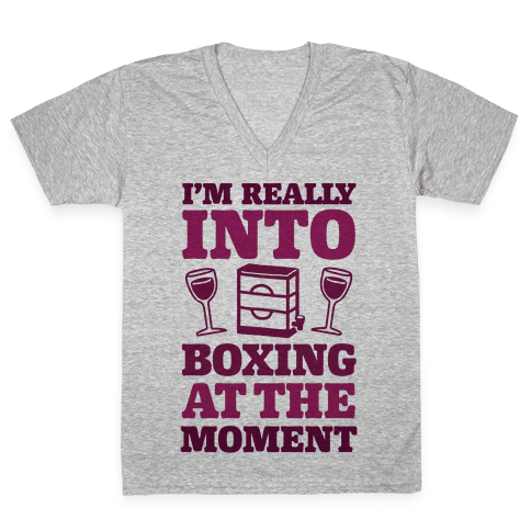 I'm Really Into Boxing At The Moment (Wine) V-Neck Tee Shirt
