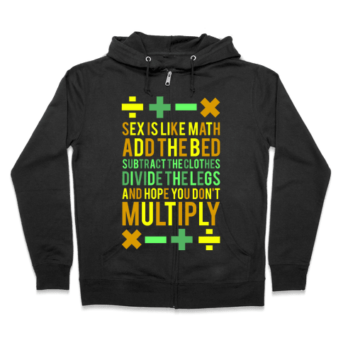 Sex is Math (dark) Zip Hoodie